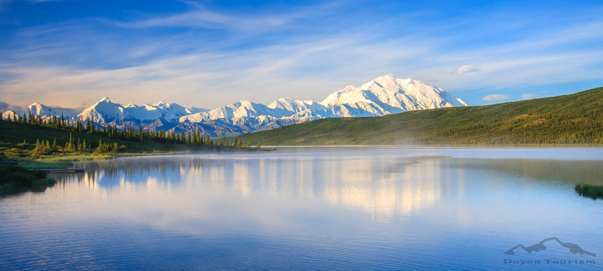 Wonder Lake and Denali