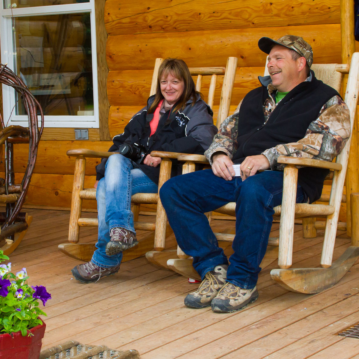 Couple on Kantishna Deck